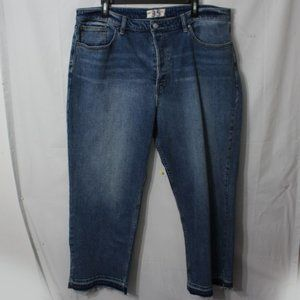 NEW Free People CRVY Blue High Rise Jeans Size 35